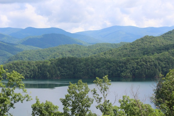 Fontana Lake from another Overlook.